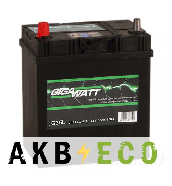 Автомобильный аккумулятор Gigawatt 35L 300A 187x127x227