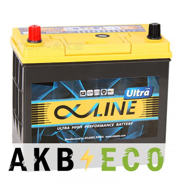 Автомобильный аккумулятор Alphaline Ultra 75B24R 59L 550A 238x129x227
