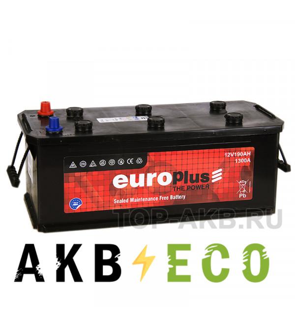 Автомобильный аккумулятор Europlus 190 евро 1300A (524x239x240)111090