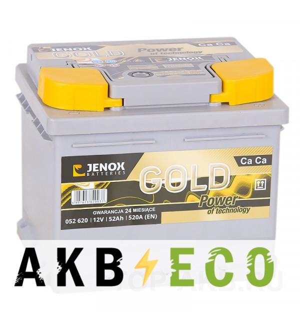 Автомобильный аккумулятор Jenox Gold 52R низкий 520A 207x175x175