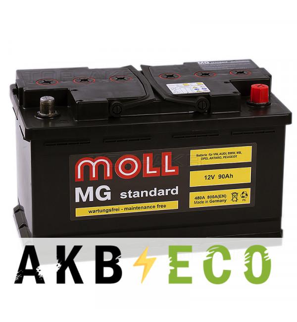 Автомобильный аккумулятор Moll MG Standard 90R 800A 315x175x190