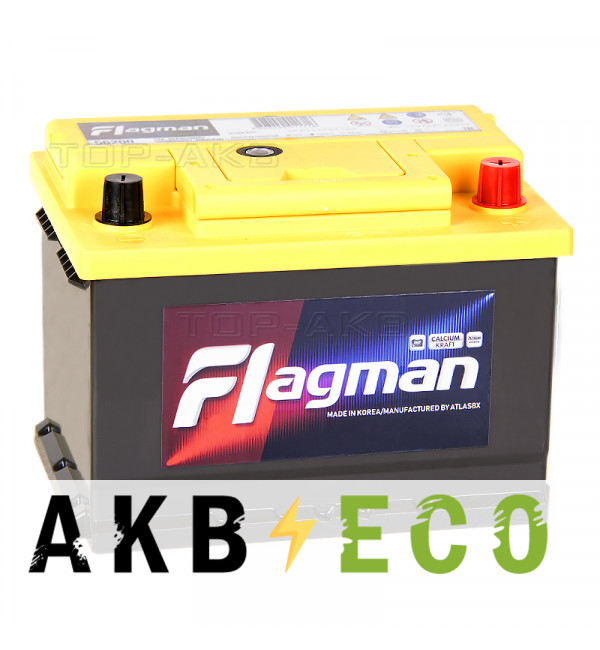 Автомобильный аккумулятор Flagman 62R LB2 600A (242x175x175) 56200