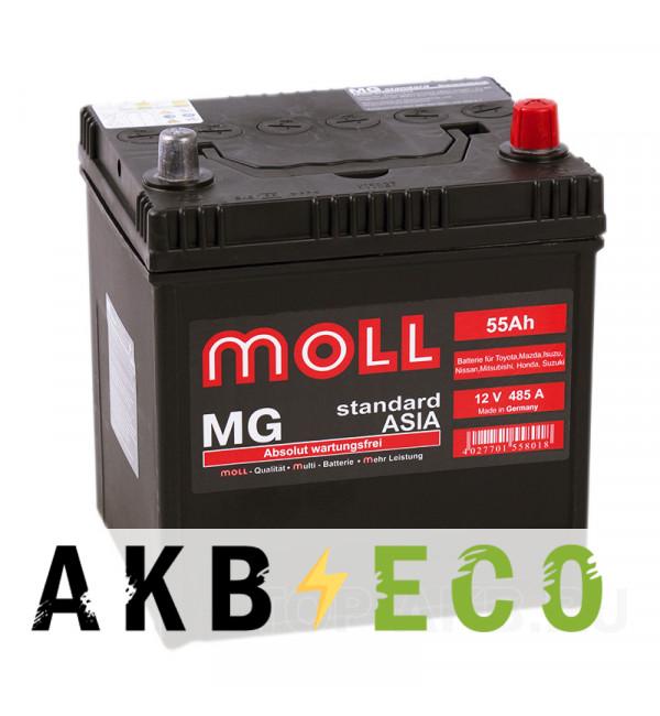 Автомобильный аккумулятор Moll MG Standard Asia 70D20L (55R 485A 200x170x220)