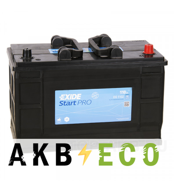 Автомобильный аккумулятор Exide Heavy Professional 110 А·ч евро 750А (349x175x235) EG1102
