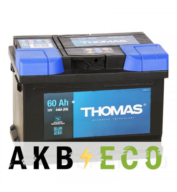 Автомобильный аккумулятор Thomas 60R низкий 540A 242x175x175