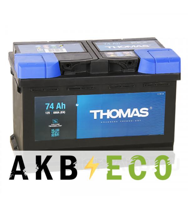 Автомобильный аккумулятор Thomas 74R 680A 278x175x190