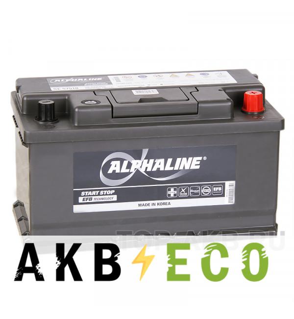 Автомобильный аккумулятор Alphaline EFB 75R (730A 315x175x175) SE 57510 Start-Stop