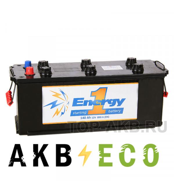 Автомобильный аккумулятор Energy ONE 140 Ач рус 830А 513х189х230