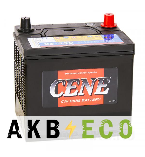 Автомобильный аккумулятор Cene 26-550 (58L 550A 206x172x205)