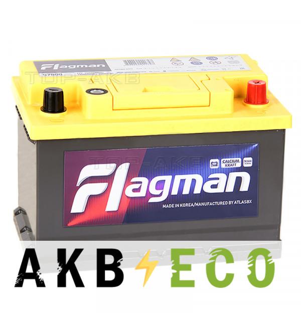 Автомобильный аккумулятор Flagman 78R L3 780A (278x175x190) 57800