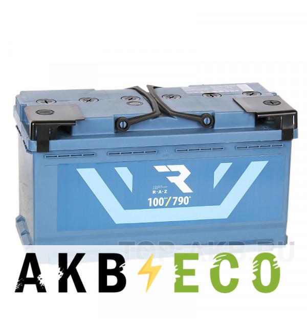 Автомобильный аккумулятор RAZ 100R 790A 353x175x190