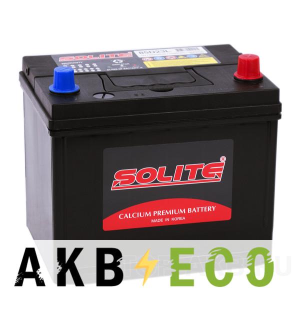 Автомобильный аккумулятор Solite 85D23L с бортиком (70R 580A 230x168x200)
