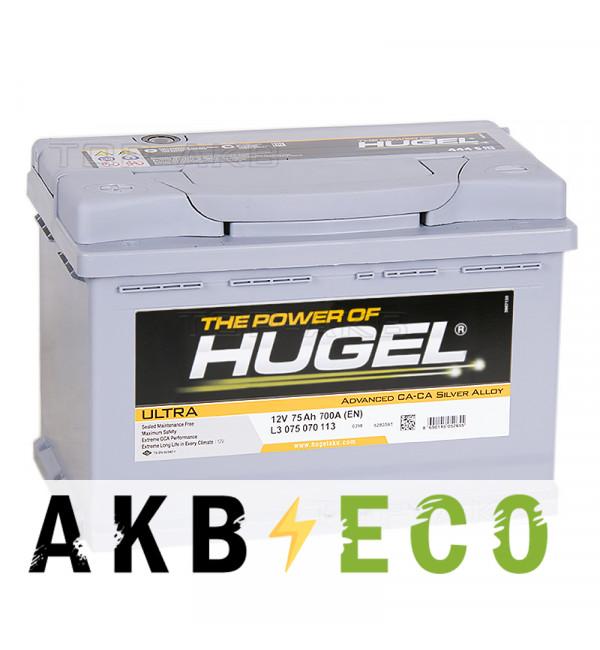 Автомобильный аккумулятор Hugel Ultra 75L 700A (278x175x190) L3 075 070 113