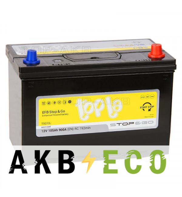 Автомобильный аккумулятор Topla EFB Stop-n-Go 105R (900A 306x173x225) 112005 60518