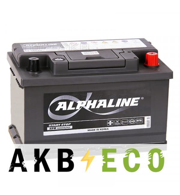 Автомобильный аккумулятор Alphaline EFB 65R (650A 278x175x175) SE 56510 Start-Stop