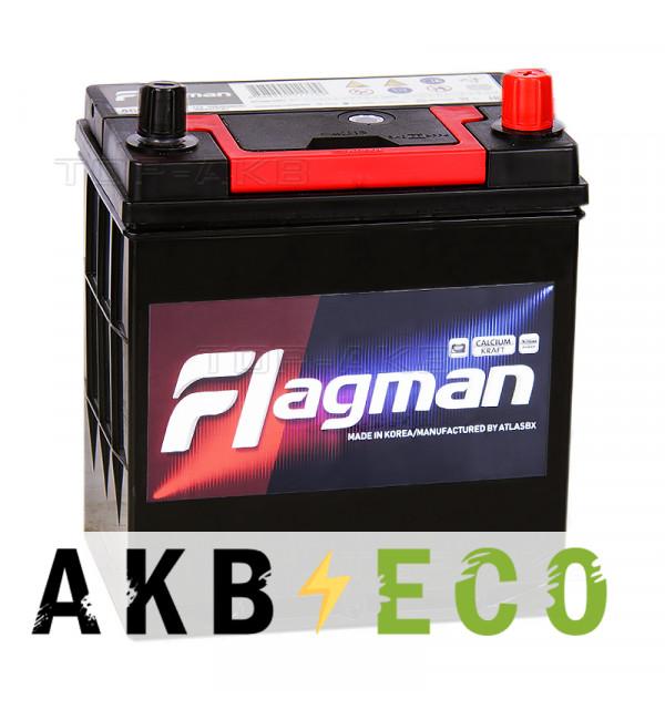 Автомобильный аккумулятор Flagman 46B19L 44R 400A 186x127x220