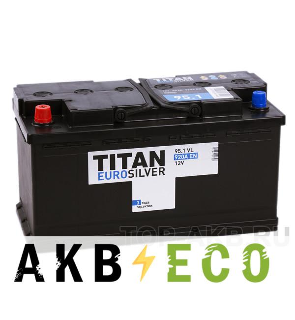 Автомобильный аккумулятор Titan Euro Silver 95L 920A 353x175x190