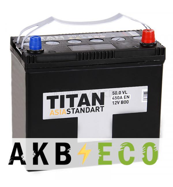 Автомобильный аккумулятор Titan Asia Standart 50R (410А 238x128x227)