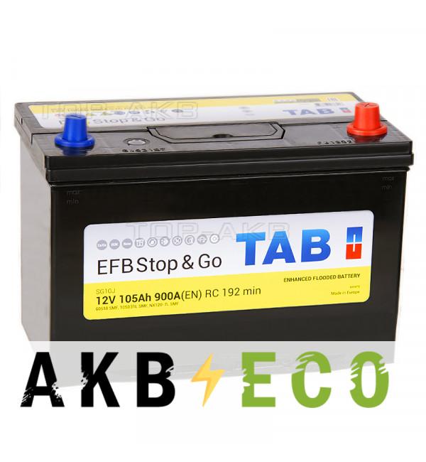 Автомобильный аккумулятор Tab EFB Stop-n-Go 105R (900A 306x173x225) 212005 60518
