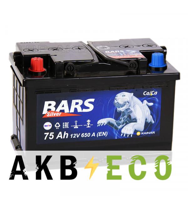 Автомобильный аккумулятор Bars 75L 650A 278x175x190