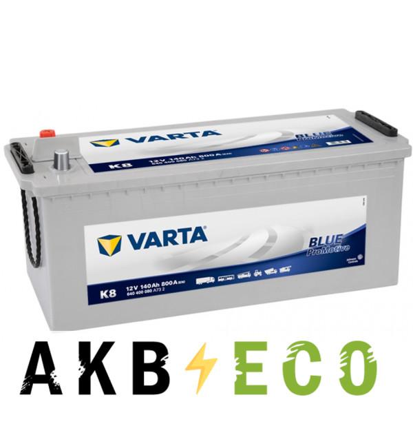 Автомобильный аккумулятор Varta Promotive Blue K8 140 евро 800A 513x189x223