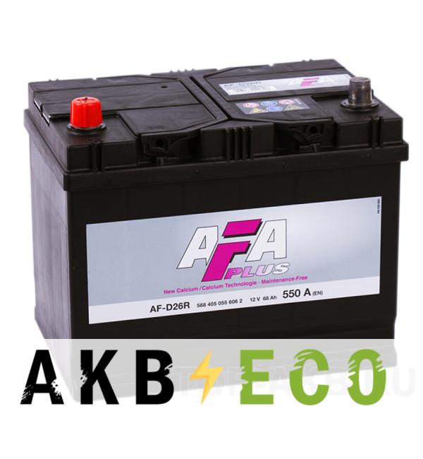 Автомобильный аккумулятор AFA Plus 68L 550A (261x175x220) AF-D26R