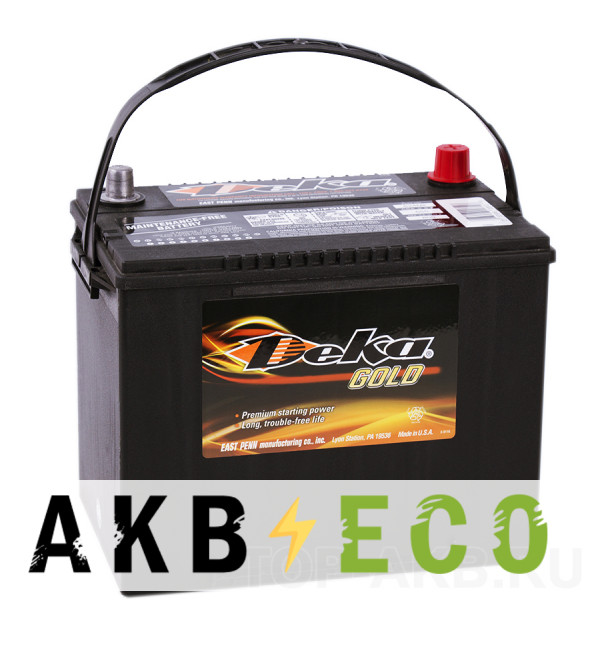 Автомобильный аккумулятор Deka 75L (624MF 650A 260x175x225)