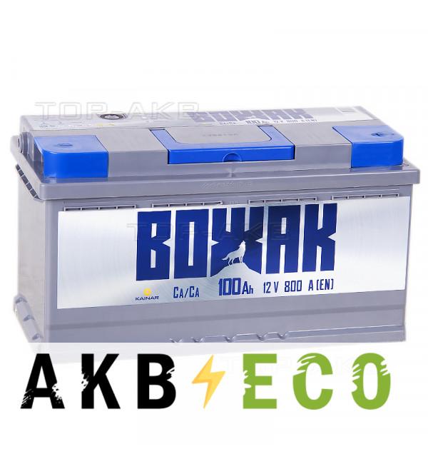 Автомобильный аккумулятор Вожак 100R 800A 353x175x190