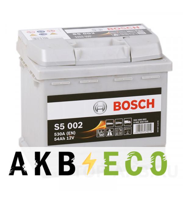 Автомобильный аккумулятор Bosch S5 002 54R 530A 207x175x190