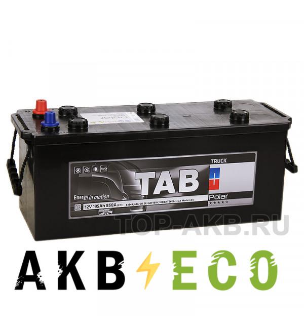 Автомобильный аккумулятор Tab Polar Truck 135 евро (850A 513x189x220) 942912 63530