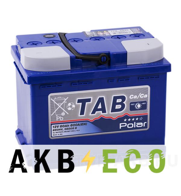 Автомобильный аккумулятор Tab Polar 60R (600A 242x175x190) 121060 56008