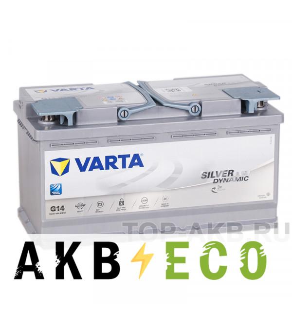 Автомобильный аккумулятор Varta Silver Dynamic AGM G14 95R (Start-Stop) 850A 353x175x190
