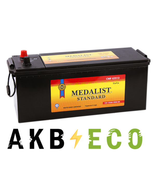 Автомобильный аккумулятор Medalist Standard 135 евро (950A 508х215х234)