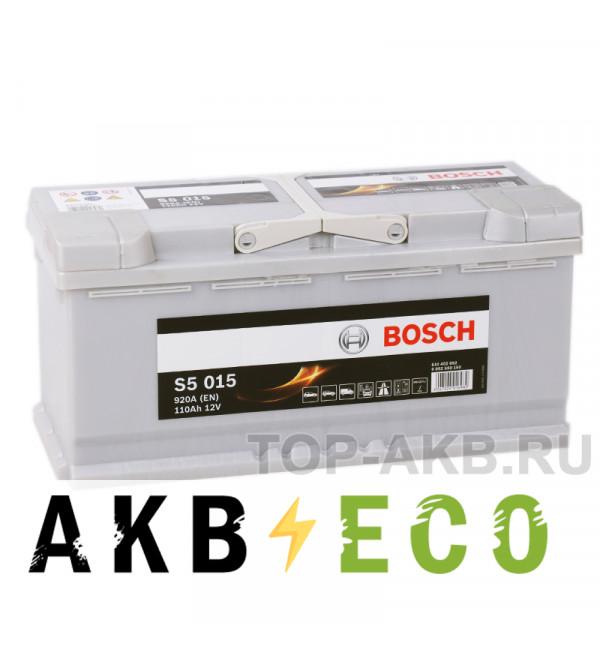 Автомобильный аккумулятор Bosch S5 015 110R 920A 393x175x190