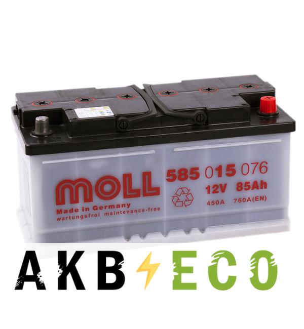 Автомобильный аккумулятор Moll MG Standard 85R 760A 353x175x175