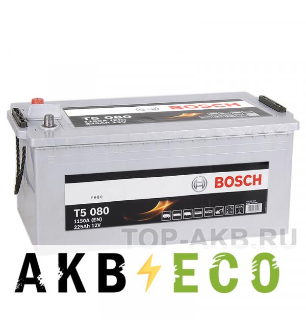 Автомобильный аккумулятор Bosch T5 080 225 евро 1150A 518x276x242