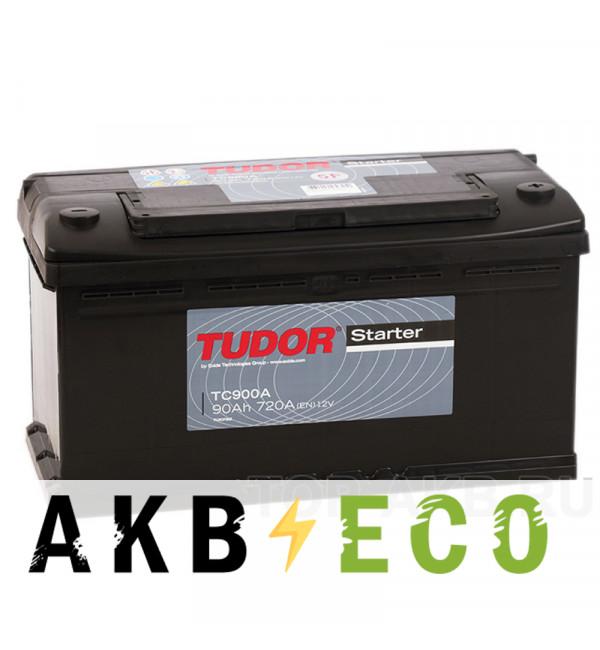 Автомобильный аккумулятор Tudor Starter 90R (720A 353x175x190) TC900