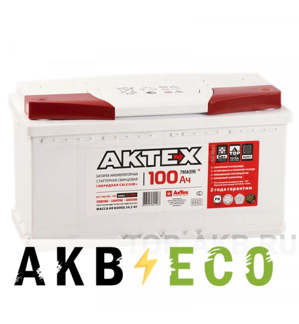 Автомобильный аккумулятор Актех 100L (790A 353x175x190)