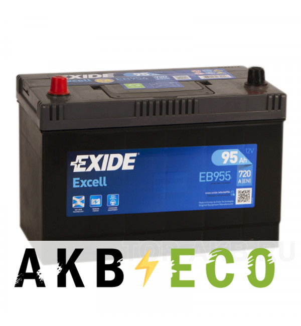 Автомобильный аккумулятор Exide Excell 95L (720A 306x173x225) EB955