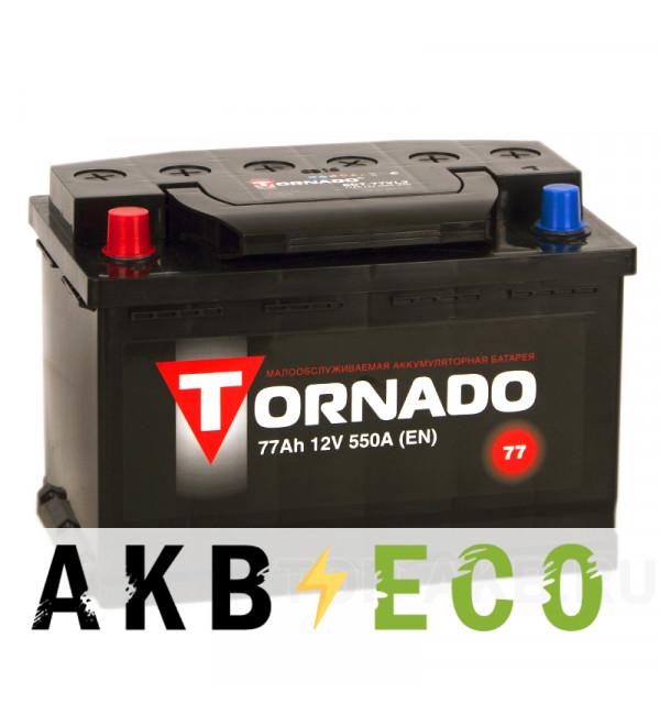 Автомобильный аккумулятор Tornado 77L 550A 278x175x190