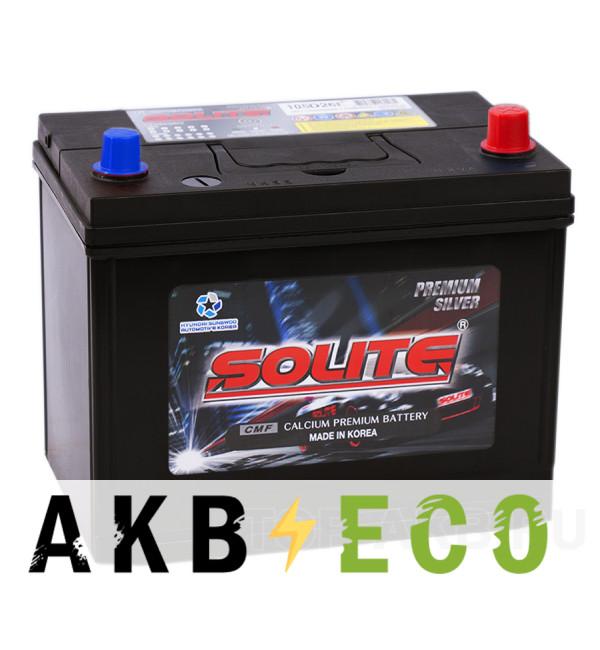 Автомобильный аккумулятор Solite Silver 105D26L с бортиком (95R 710A 260x175x225)