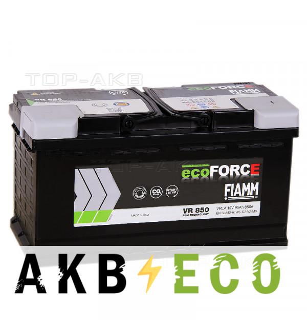 Автомобильный аккумулятор Fiamm Ecoforce AGM 95R 850A 353x175x190 (L5) Start-Stop VR850