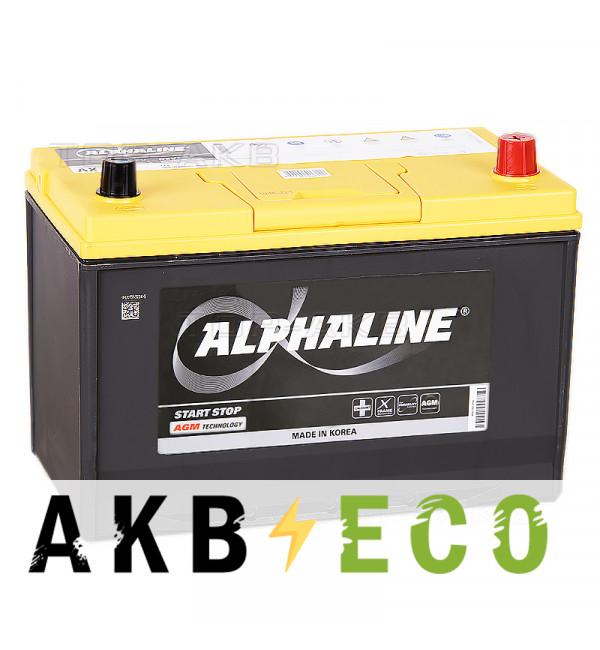 Автомобильный аккумулятор Alphaline AGM D31L 90R 800A 306x175x225 Start-Stop