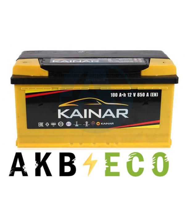 Автомобильный аккумулятор KAINAR 100 Ач обр. пол. 850А (353x175x190)