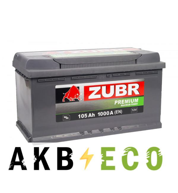 Автомобильный аккумулятор ZUBR Premium 105R 1000A (353x175x190)