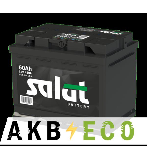 Автомобильный аккумулятор Salut 60R 480A (242x175x190)