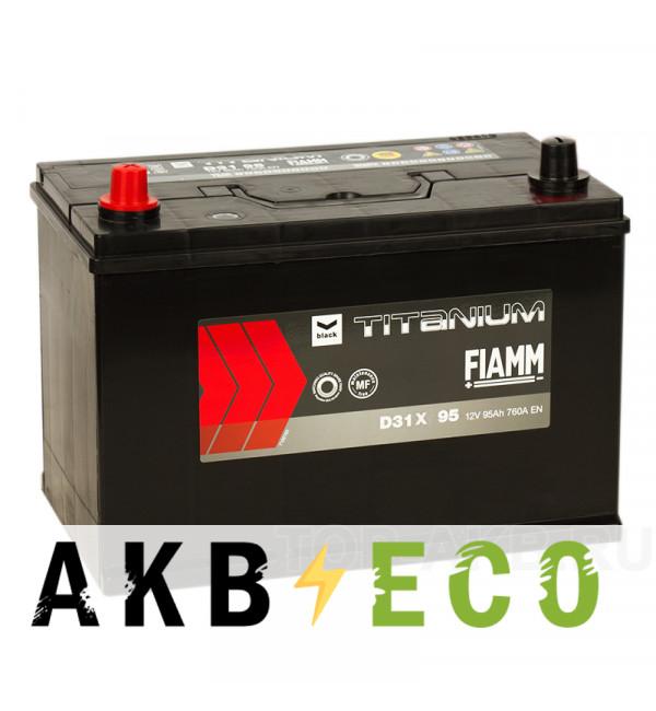 Автомобильный аккумулятор Fiamm Asia 95L 760A 306x173x225