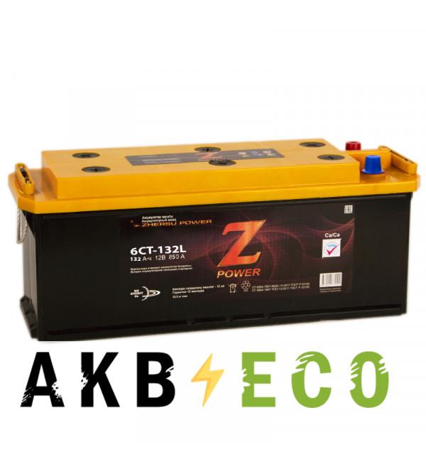 Грузовой аккумулятор Z-Power 132 рус 850A 513x190x230
