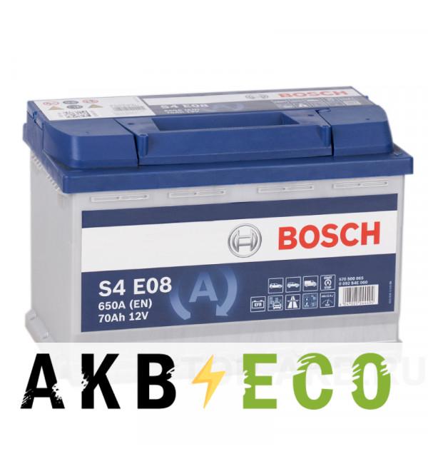 Автомобильный аккумулятор Bosch S4 EFB Start-Stop 70R (650A 278x175x190) E08