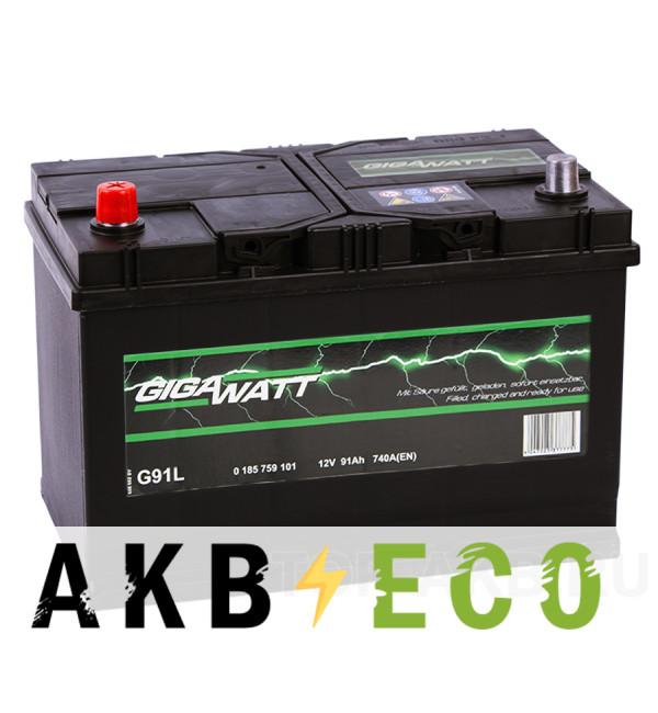 Автомобильный аккумулятор Gigawatt 91L 740A (306x173x225) G31L